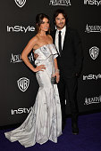 Actors Nikki Reed and Ian Somerhalder attend the 16th Annual Warner Bros and InStyle PostGolden Globe Party at The Beverly Hilton Hotel on January 11...