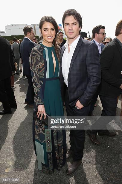 Actors Nikki Reed and Ian Somerhalder attend the 2016 Film Independent Spirit Awards sponsored by Heineken on February 27 2016 in Santa Monica...