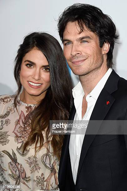 Actors Nikki Reed and Ian Somerhalder walk the WE Carpet at WE Day California 2016 at The Forum on April 7 2016 in Inglewood California