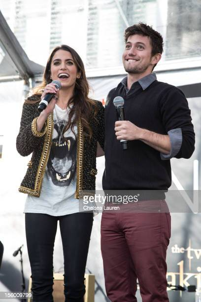 Actors Nikki Reed and Jackson Rathbone attend the Twilight fan camp concert at LA LIVE on November 10 2012 in Los Angeles California
