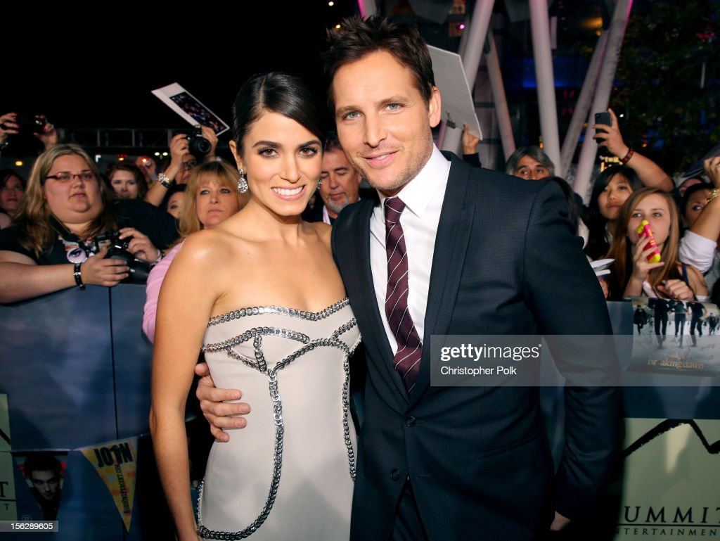 Actors <a gi-track='captionPersonalityLinkClicked' href=/galleries/search?phrase=Nikki+Reed&family=editorial&specificpeople=220844 ng-click='$event.stopPropagation()'>Nikki Reed</a> (L) and <a gi-track='captionPersonalityLinkClicked' href=/galleries/search?phrase=Peter+Facinelli&family=editorial&specificpeople=233464 ng-click='$event.stopPropagation()'>Peter Facinelli</a> arrive at the premiere of Summit Entertainment's 'The Twilight Saga: Breaking Dawn - Part 2' at Nokia Theatre L.A. Live on November 12, 2012 in Los Angeles, California.