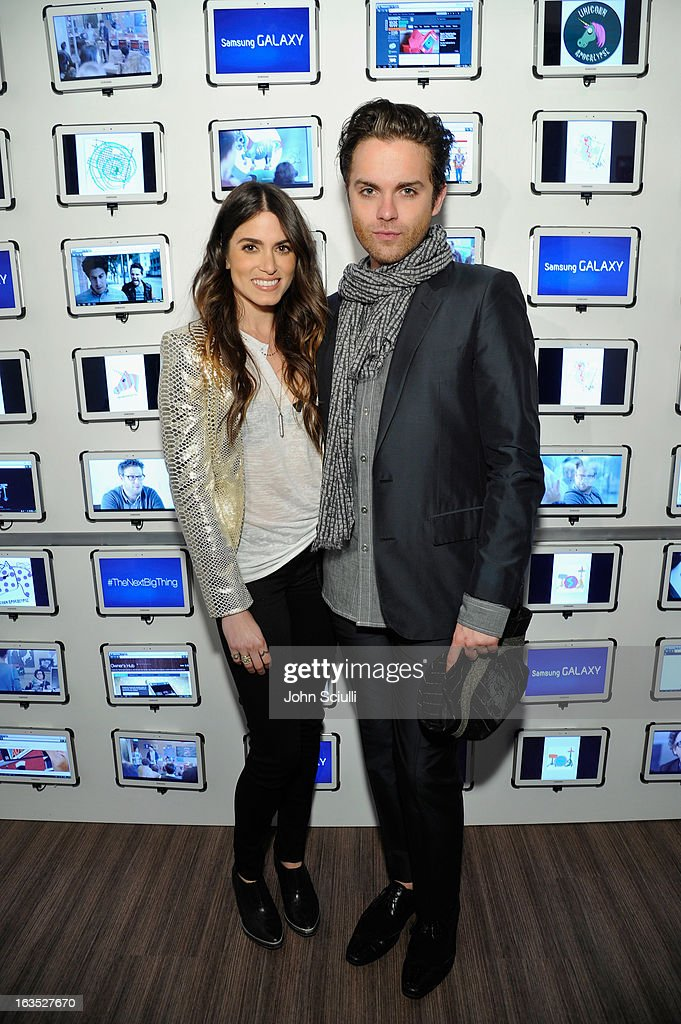 Actors <a gi-track='captionPersonalityLinkClicked' href=/galleries/search?phrase=Nikki+Reed&family=editorial&specificpeople=220844 ng-click='$event.stopPropagation()'>Nikki Reed</a> and Thomas Dekker attend the 'Snap' cast dinner hosted by The Samsung Galaxy Experience at SXSW 2013 on March 11, 2013 in Austin, Texas.