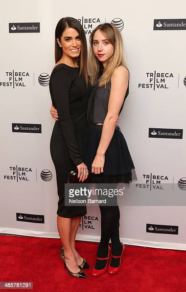 Actors Nikki Reed and Zoe Kazan attend the 'In Your Eyes' Premiere during the 2014 Tribeca Film Festival at the SVA Theater on April 20 2014 in New...