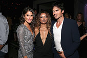 Actors Nikki Reed Kat Graham and Ian Somerhalder attend Entertainment Weekly's ComicCon Bash held at Float Hard Rock Hotel San Diego on July 23 2016...