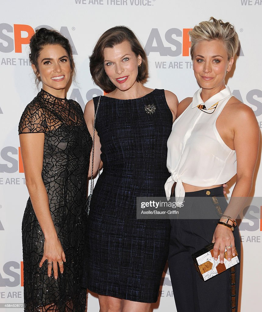 Actors Nikki Reed Milla Jovovich and Kaley CuocoSweeting attend the ASPCA Compassion Awards on October 22 2014 in Bel Air California