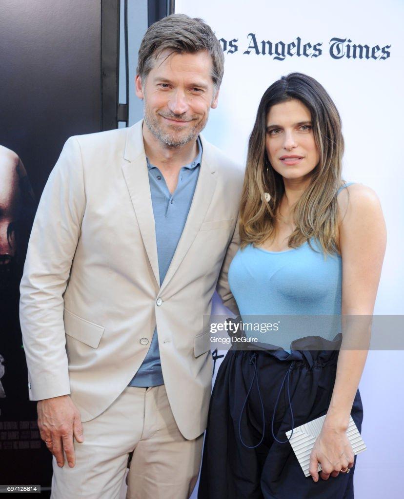 Actors Nikolaj Coster-Waldau and Lake Bell arrive at the 2017 Los Angeles Film Festival - Gala Screening Of 'Shot Caller' at Arclight Cinemas Culver City on June 17, 2017 in Culver City, California.