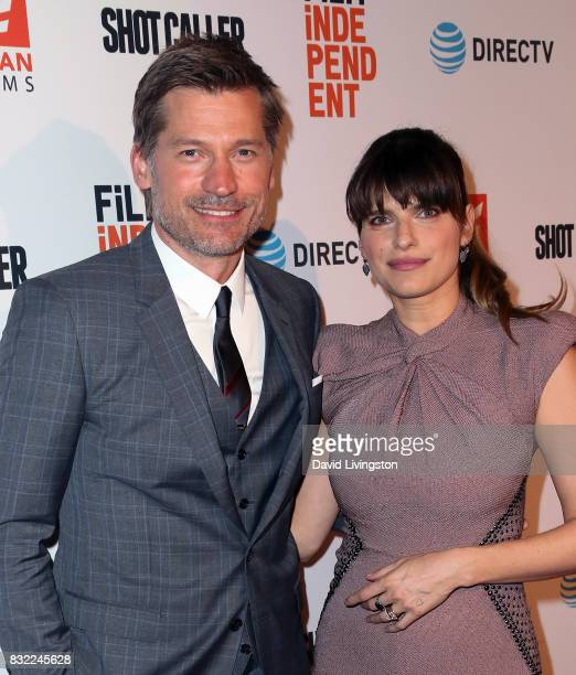 Actors Nikolaj CosterWaldau and Lake Bell attend a screening of Saban Films and DIRECTV's 'Shot Caller' at The Theatre at Ace Hotel on August 15 2017...