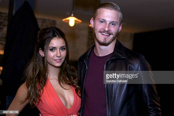 Actors Nina Dobrev and Alexander Ludwig attend 'The Final Girls' Party during the 2015 SXSW Music Film Interactive Festival at Swift's Attic on March...