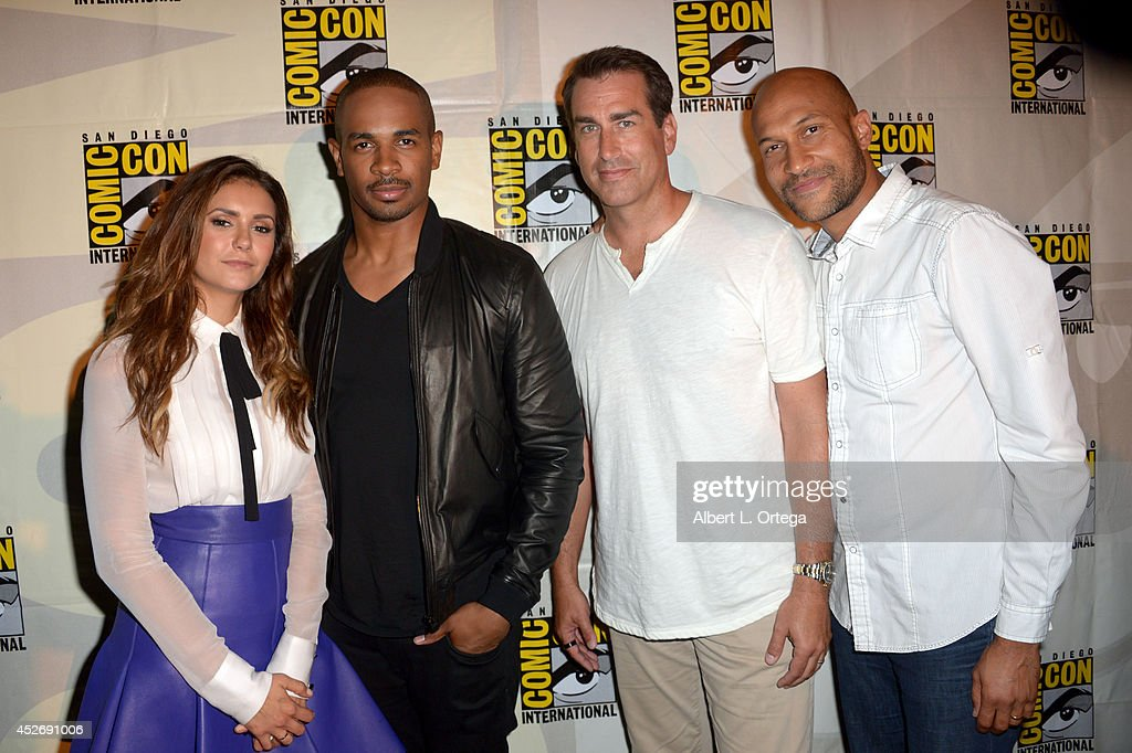 Actors Nina Dobrev, Damon Wayans Jr., Rob Riggle, and Keegan-Michael Key attend the 20th Century Fox presentation during Comic-Con International 2014 at San Diego Convention Center on July 25, 2014 in San Diego, California.