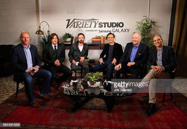 Actors Noah Emmerich Norman Reedus Aaron Paul Tony Goldwyn Jon Voight and Michael Kelly attend the Variety Studio powered by Samsung Galaxy at...