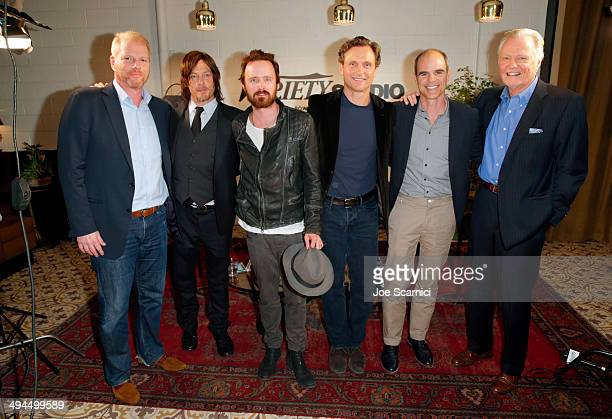 Actors Noah Emmerich Norman Reedus Aaron Paul Tony Goldwyn Michael Kelly and Jon Voight attend the Variety Studio powered by Samsung Galaxy at...