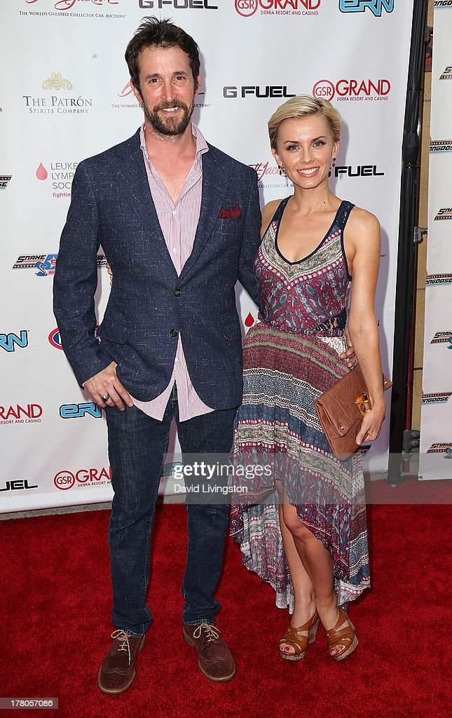 Actors <a gi-track='captionPersonalityLinkClicked' href=/galleries/search?phrase=Noah+Wyle&family=editorial&specificpeople=217263 ng-click='$event.stopPropagation()'>Noah Wyle</a> (L) and Sara Wells attend the premiere of 'Snake & Mongoo$e' at the Egyptian Theatre on August 26, 2013 in Hollywood, California.