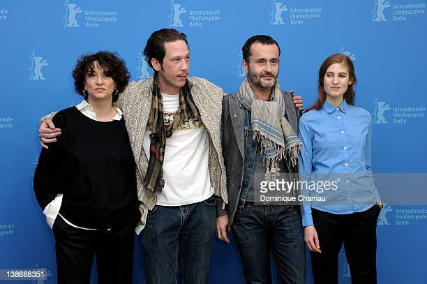 Actors Noemie Lvovsky Reda Kateb director Frederic Videau and actress Agathe Bonitzer attend the 'A Moi Seule' Photocall during day two of the 62nd...