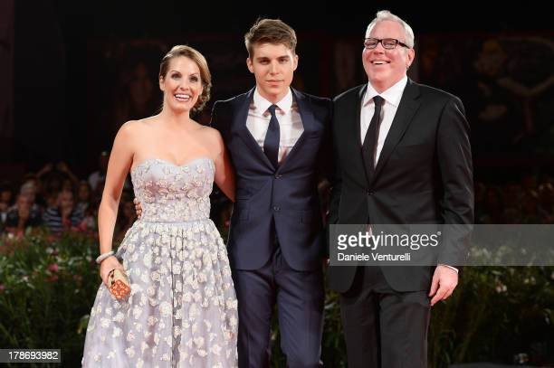 Actors Nolan Gerard Funk Tenille Houston and screenwriter Bret Easton Ellis attend 'The Canyons' Premiere during The 70th Venice International Film...