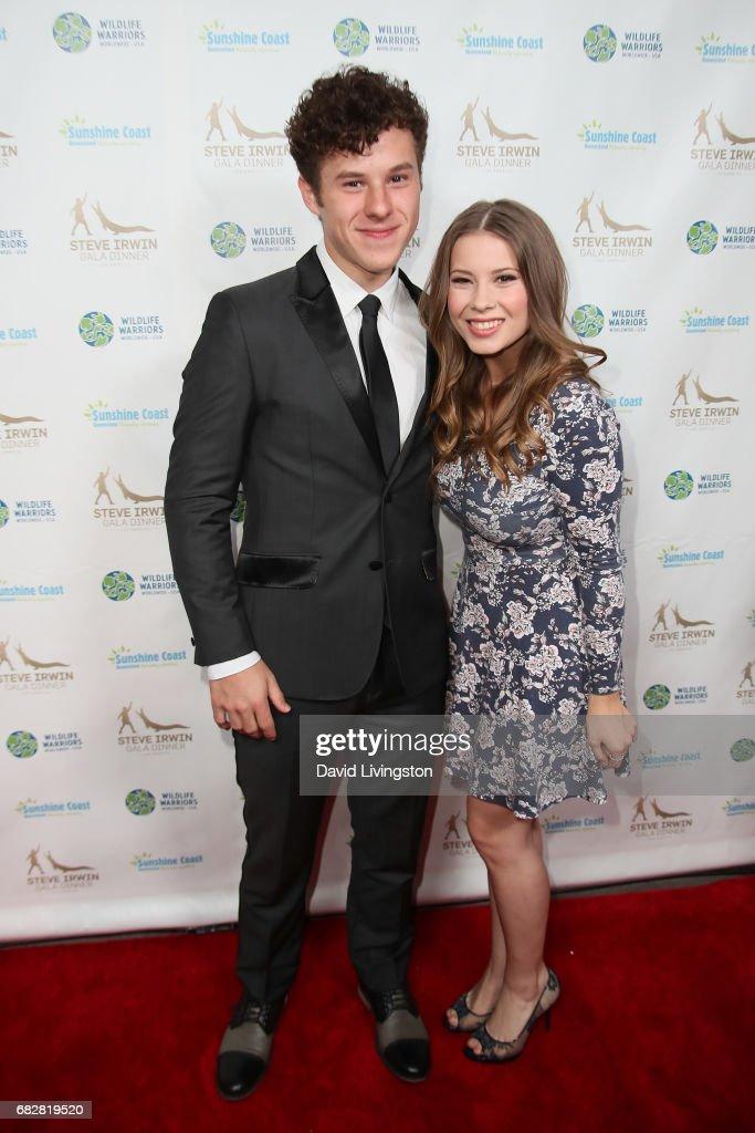Actors Nolan Gould and Bindi Irwin attend the Steve Irwin Gala Dinner at the SLS Hotel at Beverly Hills on May 13, 2017 in Los Angeles, California.