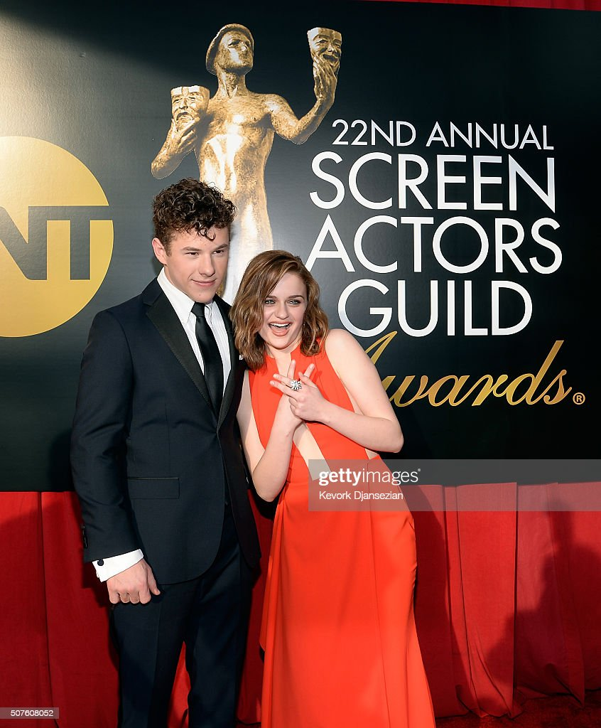 Actors Nolan Gould (L) and Joey King attend the 22nd Annual Screen Actors Guild Awards at The Shrine Auditorium on January 30, 2016 in Los Angeles, California.