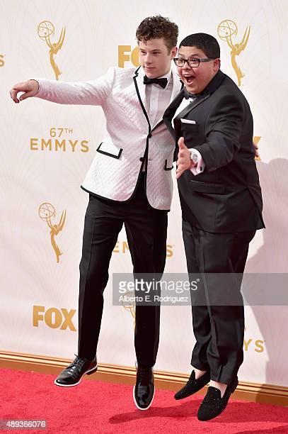 Actors Nolan Gould and Rico Rodriguez attend the 67th Emmy Awards at Microsoft Theater on September 20 2015 in Los Angeles California 25720_001