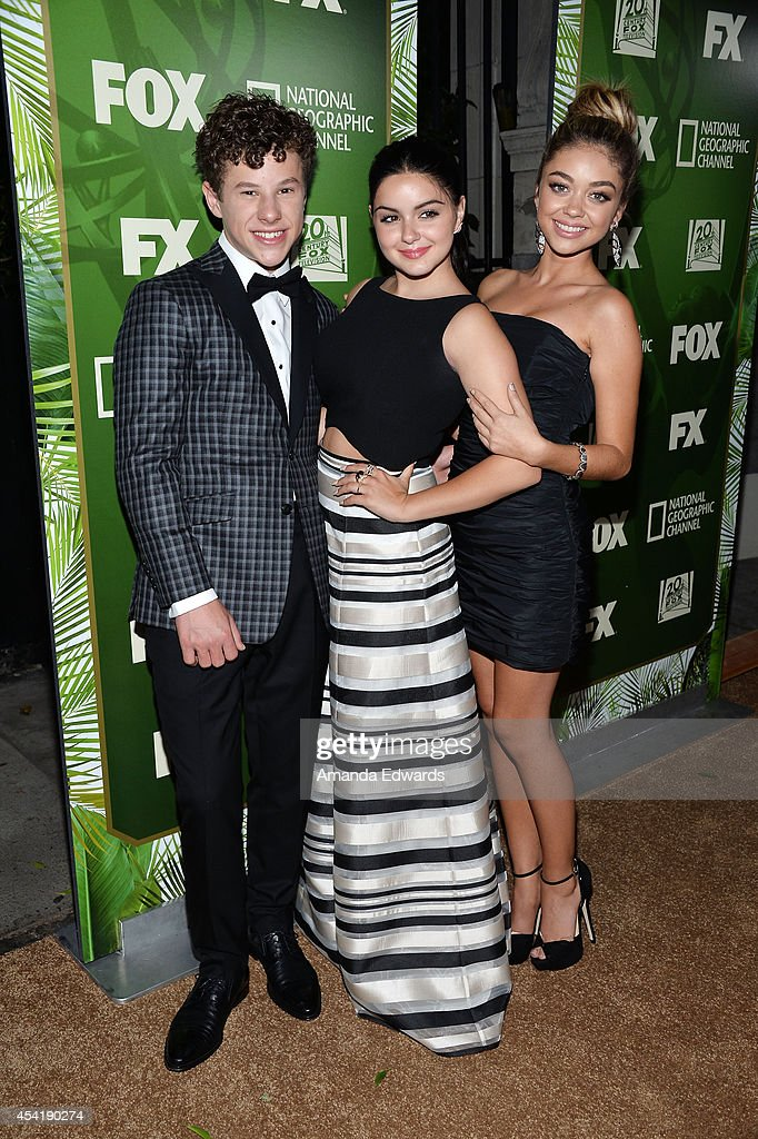 Actors Nolan Gould, Ariel Winter and Sarah Hyland arrive at the FOX, 20th Century FOX Television, FX Networks and National Geographic Channel's 2014 Emmy Award Nominee Celebration at Vibiana on August 25, 2014 in Los Angeles, California.
