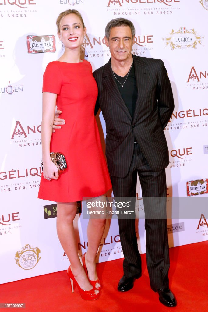 Actors <a gi-track='captionPersonalityLinkClicked' href=/galleries/search?phrase=Nora+Arnezeder&family=editorial&specificpeople=4405993 ng-click='$event.stopPropagation()'>Nora Arnezeder</a> and <a gi-track='captionPersonalityLinkClicked' href=/galleries/search?phrase=Gerard+Lanvin&family=editorial&specificpeople=2826474 ng-click='$event.stopPropagation()'>Gerard Lanvin</a> attend the 'Angelique' Paris movie premiere at Cinema Gaumont Capucine on December 16, 2013 in Paris, France.