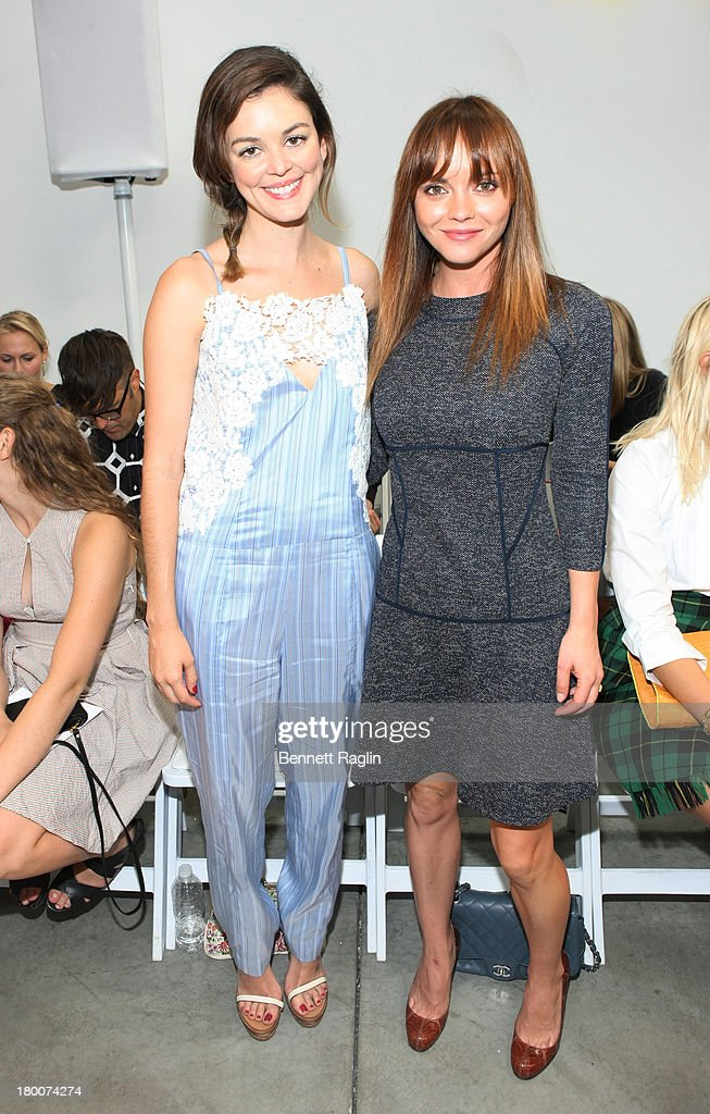Actors Nora Zehetner and Christina Ricci attend the Thakoon show during Spring 2014 MercedesBenz Fashion Week at 545 West 22nd Street on September 8...