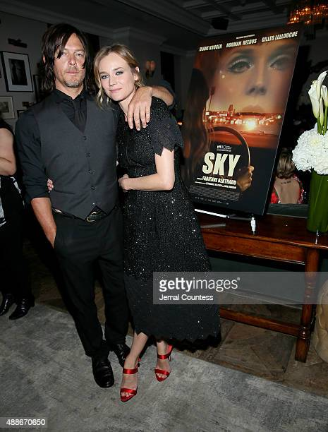 Actors Norman Reedus and Diane Kruger attend the CHANEL party for 'Sky' during the 2015 Toronto International Film Festival at Soho House Toronto on...