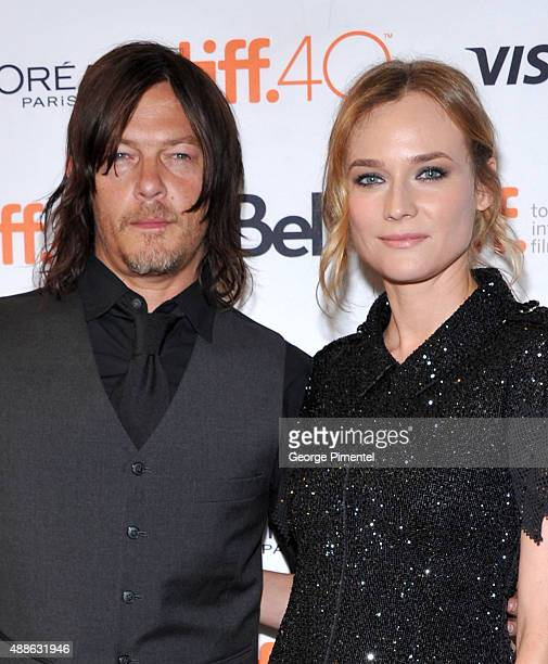 Actors Norman Reedus and Diane Kruger attend the 'Sky' photo call during the 2015 Toronto International Film Festival at The Elgin on September 16...