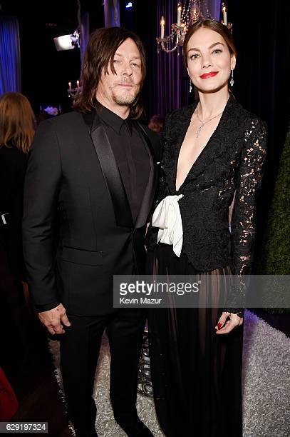 Actors Norman Reedus and Michelle Monaghan attend The 22nd Annual Critics' Choice Awards at Barker Hangar on December 11 2016 in Santa Monica...