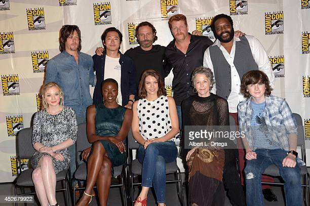 Actors Norman Reedus Steven Yeun Andrew Lincoln Michael Cudlitz and Chad L Coleman Emily Kinney Danai Gurira Lauren Cohan Melissa McBride and...