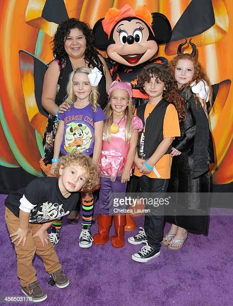 Actors Ocean Maturo Raini Rodriquez Mckenna Grace Mia Talerico August Maturo and Francesca Capaldi attend Disney's VIP halloween event at Disney...
