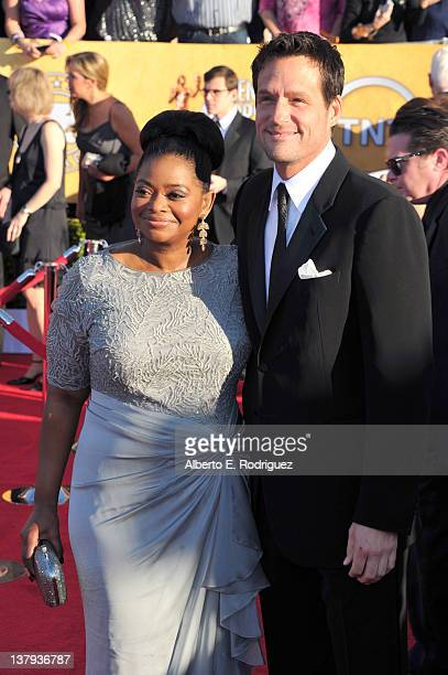 Actors Octavia Spencer and Josh Hopkins arrive at the 18th Annual Screen Actors Guild Awards at The Shrine Auditorium on January 29 2012 in Los...
