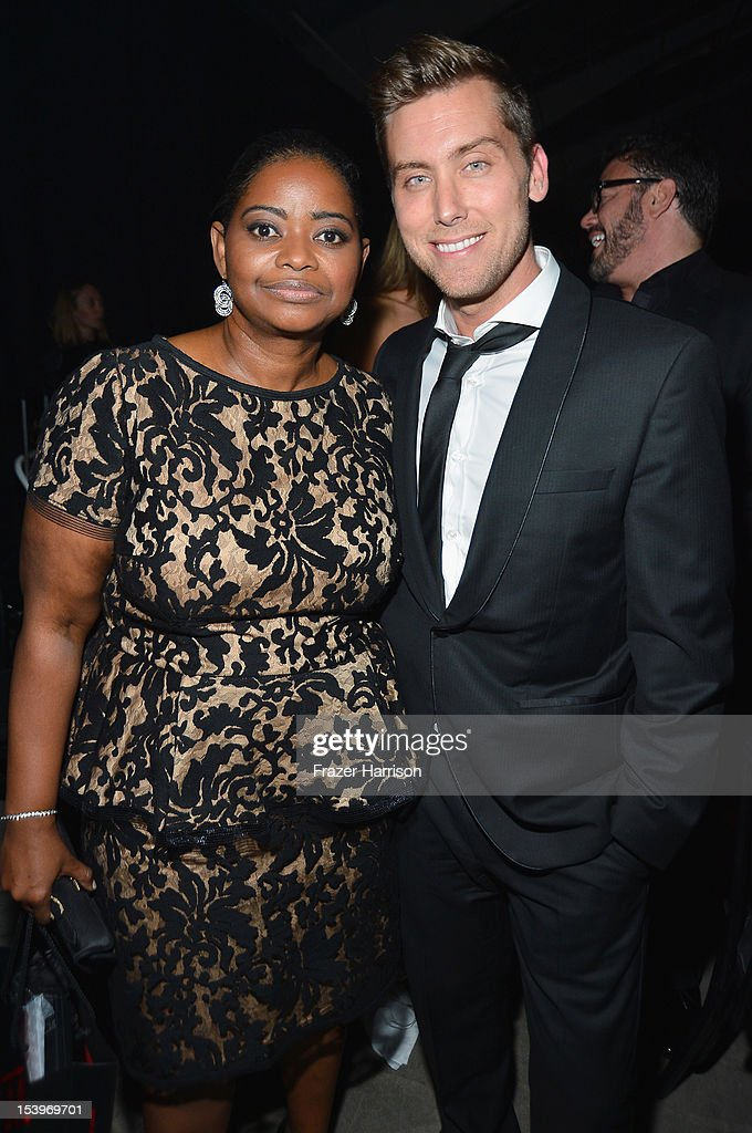 Actors <a gi-track='captionPersonalityLinkClicked' href=/galleries/search?phrase=Octavia+Spencer&family=editorial&specificpeople=2538115 ng-click='$event.stopPropagation()'>Octavia Spencer</a> and <a gi-track='captionPersonalityLinkClicked' href=/galleries/search?phrase=Lance+Bass&family=editorial&specificpeople=210566 ng-click='$event.stopPropagation()'>Lance Bass</a> attend amfAR's Inspiration Gala at Milk Studios on October 11, 2012 in Los Angeles, California.