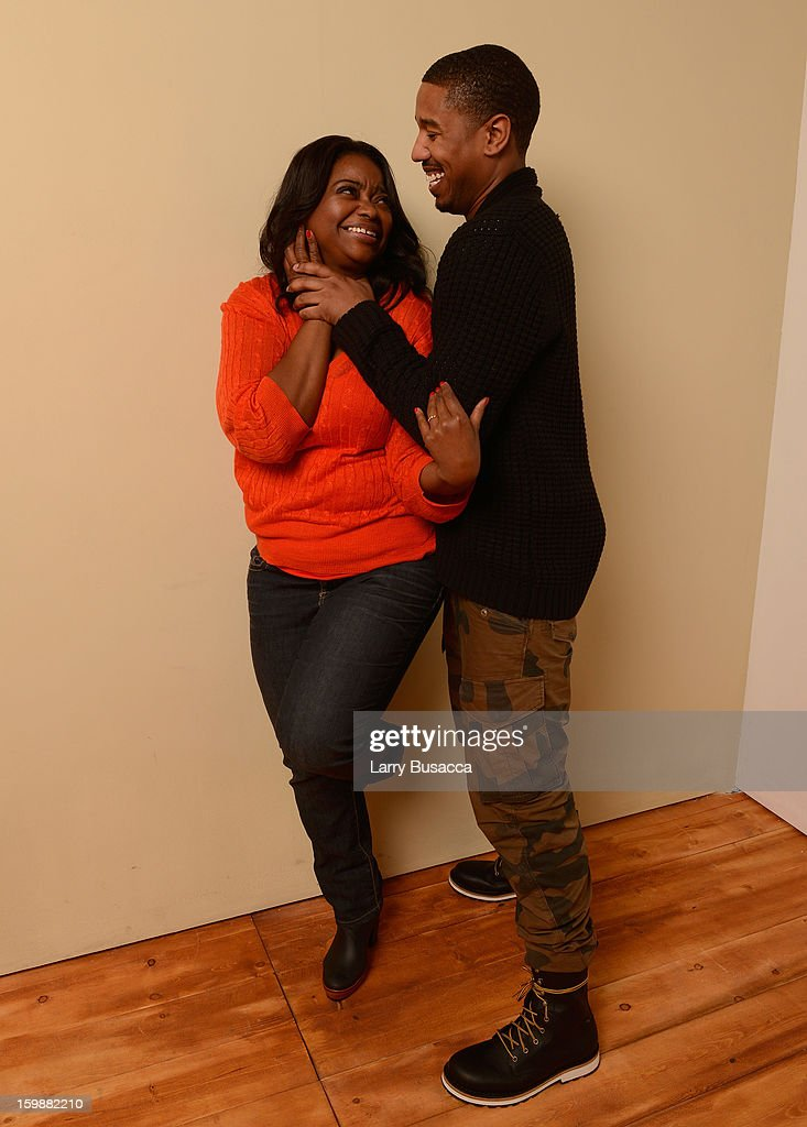 Actors Octavia Spencer and Michael B. Jordan pose for a portrait during the 2013 Sundance Film Festival at the Getty Images Portrait Studio at Village at the Lift on January 19, 2013 in Park City, Utah.