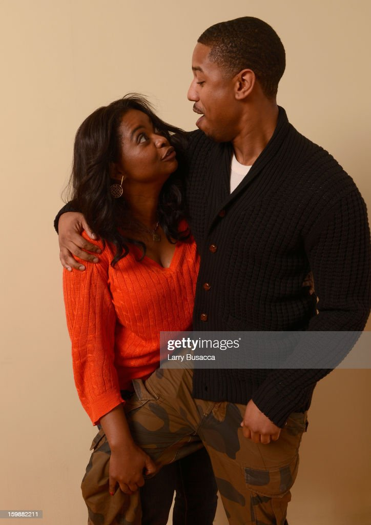 Actors <a gi-track='captionPersonalityLinkClicked' href=/galleries/search?phrase=Octavia+Spencer&family=editorial&specificpeople=2538115 ng-click='$event.stopPropagation()'>Octavia Spencer</a> and Michael B. Jordan pose for a portrait during the 2013 Sundance Film Festival at the Getty Images Portrait Studio at Village at the Lift on January 19, 2013 in Park City, Utah.