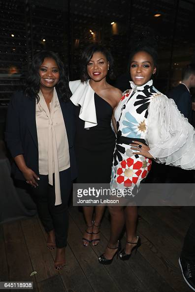 Actors Octavia Spencer and Taraji P Henson and Janelle Monae attend Vanity Fair and Genesis Celebrate 'Hidden Figures' on February 24 2017 in Los...