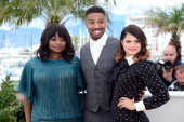 Actors Octavia Spencer Michael B Jordan and Melonie Diaz attend the photocall for 'Fruitvale Station' during the 66th Annual Cannes Film Festival at...