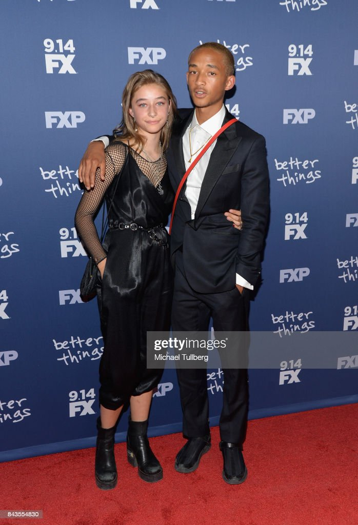 Actors Odessa Adlon and Jaden Smith attend the premiere of FX's 'Better Things' Season 2 at Pacific Design Center on September 6, 2017 in West Hollywood, California.
