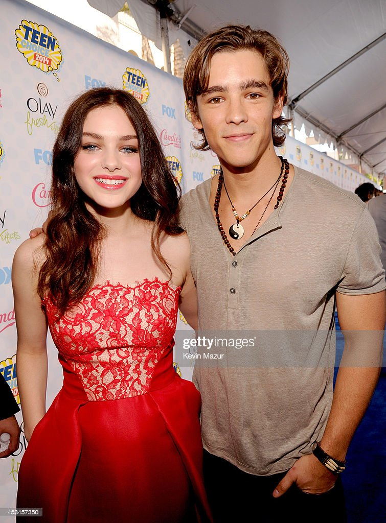 Actors Odeya Rush and Brenton Thwaites attend FOX's 2014 Teen Choice Awards at The Shrine Auditorium on August 10 2014 in Los Angeles California