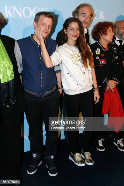 Actors of the movie Alex Lutz and Audrey Dana attend the 'Knock' Paris Premiere at Cinema UGC Normandie on October 16 2017 in Paris France