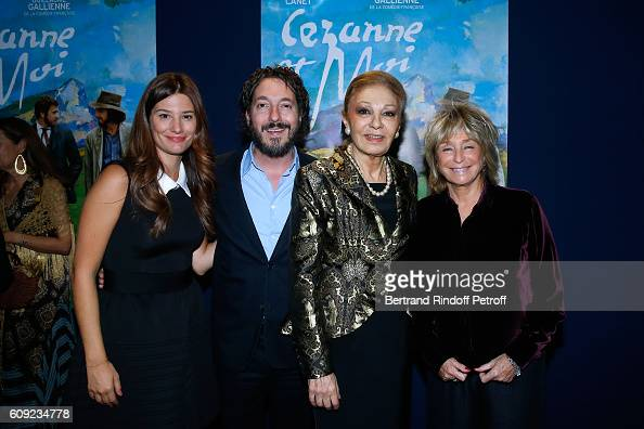 Actors of the movie Alice Pol Guillaume Gallienne Farah Pahlavi and Director of the movie Daniele Thompson attend the 'Cezanne et Moi' movie Premiere...