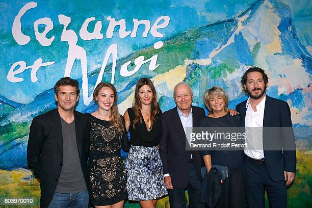 Actors of the movie Guillaume Canet Deborah Francois Alice Pol President Pathe Jerome Seydoux director of the movie Daniele Thompson and actor of the...