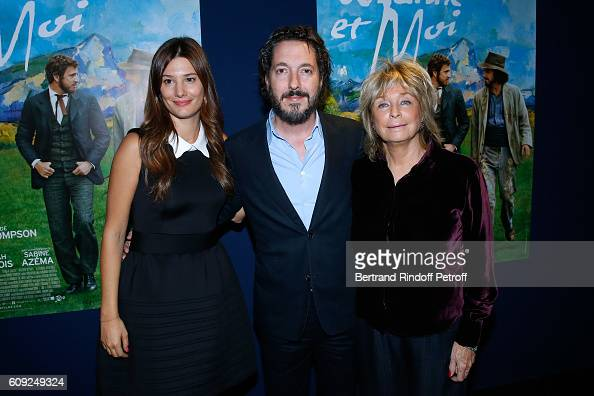 Actors of the movie Guillaume Gallienne Alice Pol and Director of the movie Daniele Thompson attend the 'Cezanne et Moi' movie Premiere to Benefit...