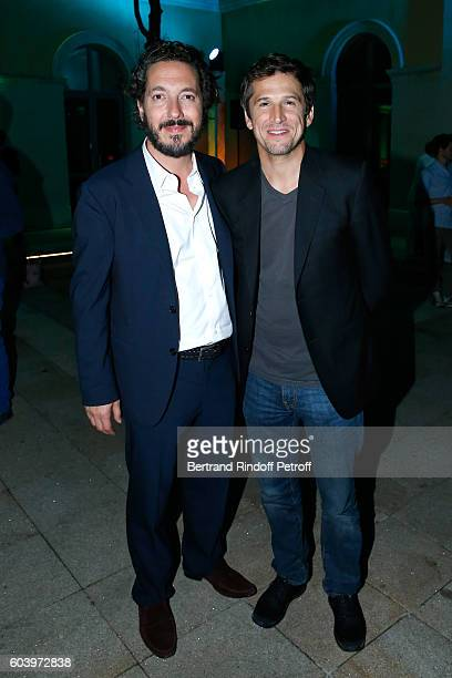 Actors of the movie Guillaume Gallienne and Guillaume Canet attend the 'Cezanne et Moi' Premiere Held at the Cinema 'Le Cezanne' on September 12 2016...