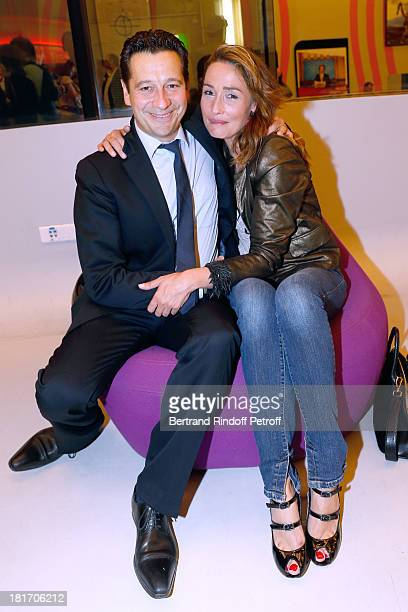 Actors of the movie Laurent Gerra and Annelise Hesme attend 'L'Escalier De Fer' with Laurent Gerra Private Screening in Paris on September 23 2013 in...