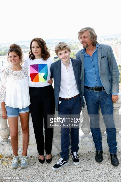 Actors of the movie 'Le rire de ma mere' Salome Larouquie Suzanne Clement Igor van Dessel and Pascal Demolon attend the 10th Angouleme FrenchSpeaking...