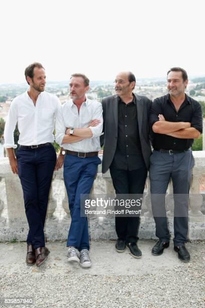 Actors of the movie 'Le sens de la fete' Benjamin Laverhne JeanPaul Rouve JeanPierre Bacri and Gilles Lellouche attend the 10th Angouleme...