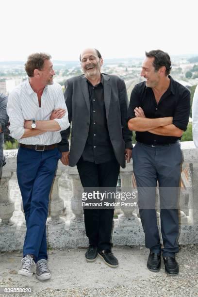 Actors of the movie 'Le sens de la fete' JeanPaul Rouve JeanPierre Bacri and Gilles Lellouche attend the 10th Angouleme FrenchSpeaking Film Festival...