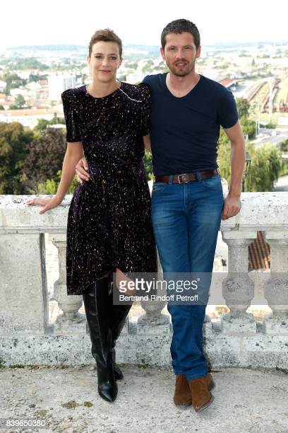Actors of the movie 'Nos annees folles' Celine Sallette and Pierre Deladonchamps attend the 10th Angouleme FrenchSpeaking Film Festival Day Five on...
