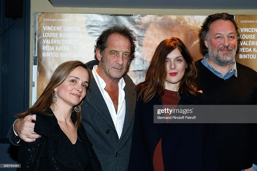 Actors of the movie Raphaelle Bruneau Vincent Lindon Valerie Donzelli and JeanHenri Compere attend the 'Les Chevaliers Blancs' movie Premiere at UGC...