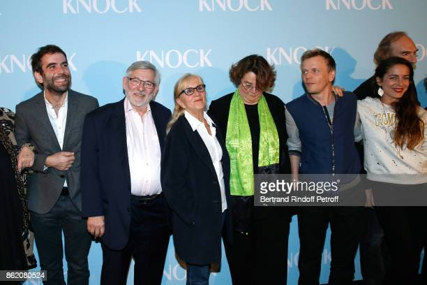 Actors of the movie Sebastien Castro Yves Pignot Helene Vincent Director of the movie Lorraine Levy Alex Lutz and Audrey Dana attend the 'Knock'...