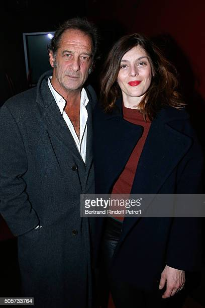 Actors of the movie Vincent lindon and Valerie Donzelli attend the 'Les Chevaliers Blancs' movie Premiere at UGC Cine Cite des Halles on January 19...